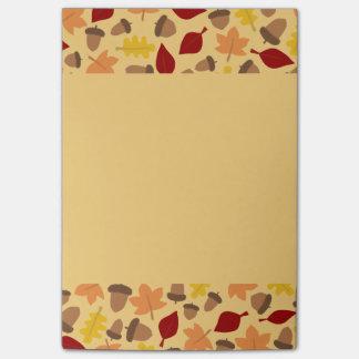 秋の紅葉のメモ帳 ポストイット