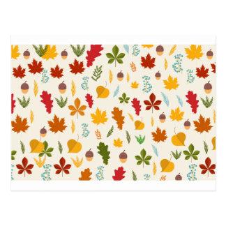 秋の紅葉の季節的なdecoritive thankgiving ポストカード