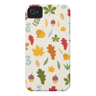 秋の紅葉の季節的なdecoritive thankgiving Case-Mate iPhone 4 ケース