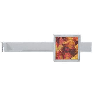 秋の紅葉 銀色 ネクタイピン