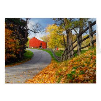 秋の納屋 カード