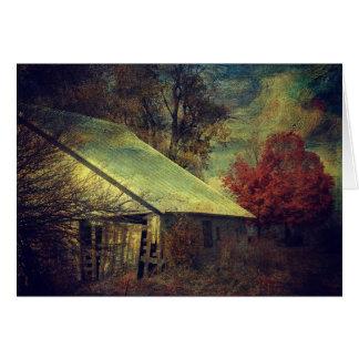 秋の納屋、誕生日 カード