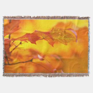 秋の素晴らしさ-カラフル、明るい紅葉 スローブランケット