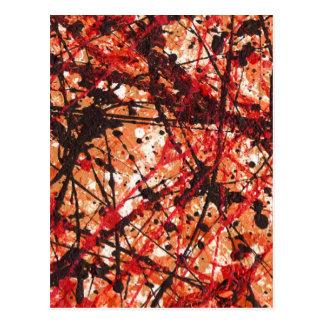 秋の組合せ(抽象美術のデザイン)の~ ポストカード