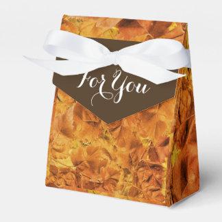 秋の結婚式の紅葉の好意 フェイバーボックス