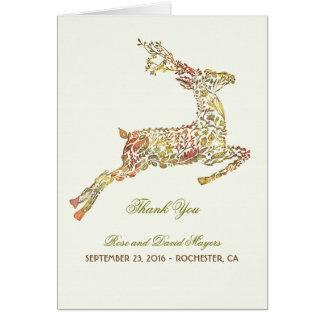秋の結婚式はシカとの感謝していしています カード