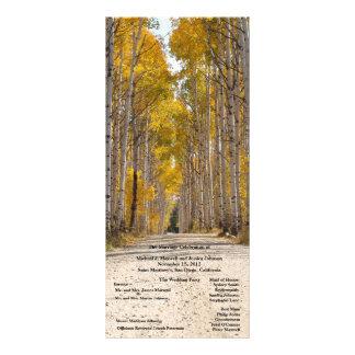 秋の結婚式プログラムの《植物》アスペンの細道 ラックカード