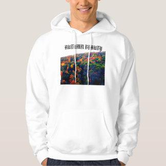 秋の美しいのフード付きスウェットシャツ パーカ