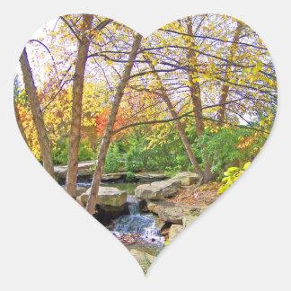 秋の美しい ハートシール