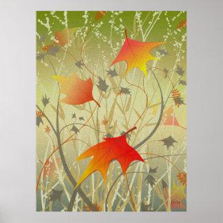 秋の群葉 ポスター