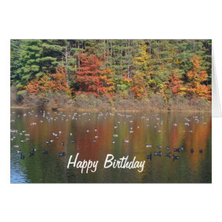 秋の自然のバースデー・カードのカナダのガチョウ カード
