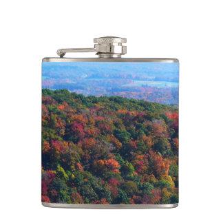秋の自然の写真撮影のアパラチア山脈 フラスク