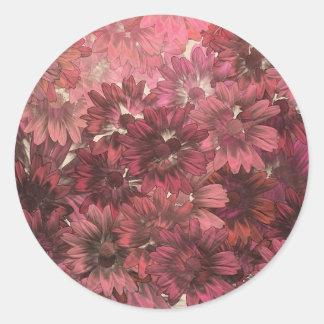 秋の花 ラウンドシール