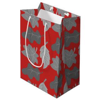 秋の葉のギフトバッグ ミディアムペーパーバッグ
