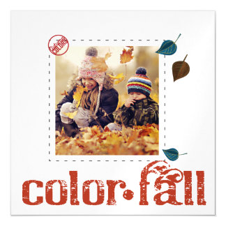 秋の葉のジャンパーの写真は磁石を薄くします マグネットカード