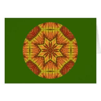 秋の葉の目まぐるしい曼荼羅のカード設計1 カード