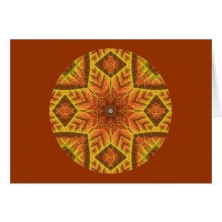 秋の葉の目まぐるしい曼荼羅のカード設計2 カード