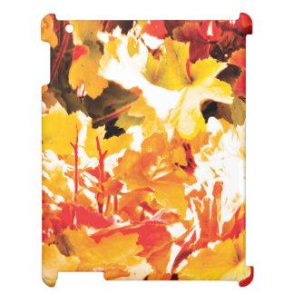 秋の葉の箱の精通した無光沢のiPadの場合 iPad Case