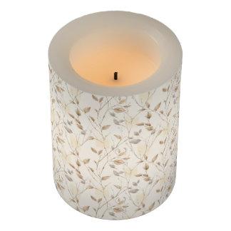 秋の葉パターン小さいFlameless蝋燭 LEDキャンドル