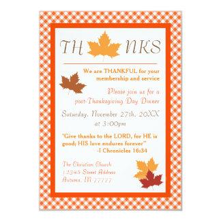 秋の葉-感謝祭の夕食の招待状 12.7 X 17.8 インビテーションカード