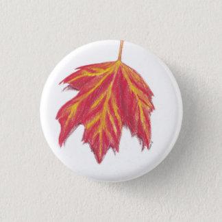 秋の葉 3.2CM 丸型バッジ