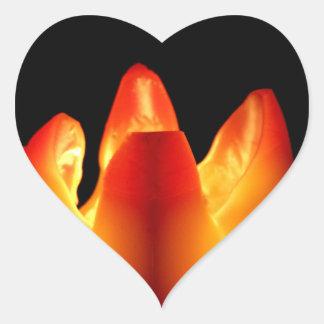 秋の蝋燭の白熱 ハートシール
