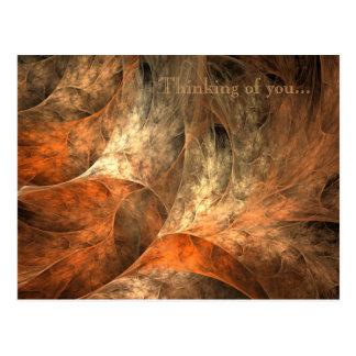 秋の豊かさのフラクタルの芸術 ポストカード