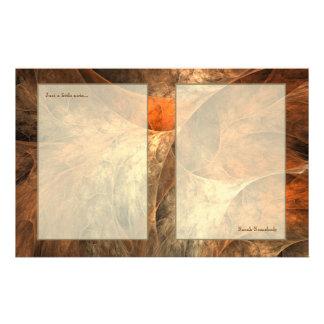 秋の豊かさのフラクタルの芸術 便箋