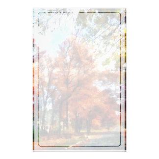 秋の通りの見通し 便箋
