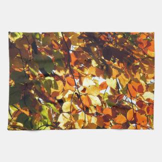 秋の金ゴールド キッチンタオル