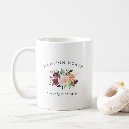 秋の開花 の花のロゴ コーヒーマグカップ