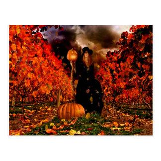 秋の魔法使い ポストカード