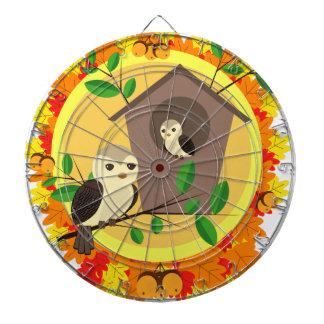 秋の鳥そして巣箱 ダーツボード