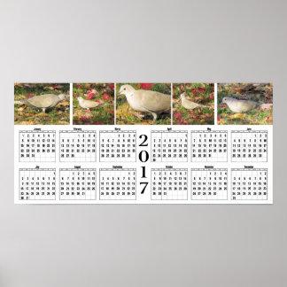 秋の鳩2017のカレンダー ポスター