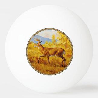 秋の《植物》アスペンの森林のオジロ鹿シカ 卓球ボール