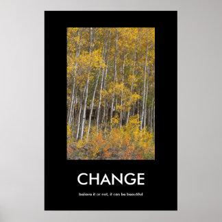 秋の《植物》アスペン果樹園の変更のインスピレーションポスター ポスター