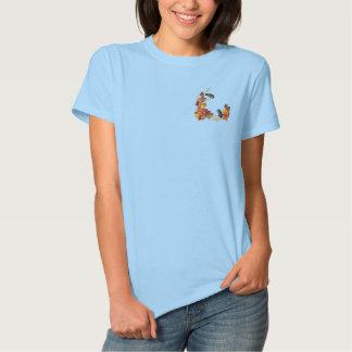秋の《鳥》アメリカゴガラ 刺繍入りTシャツ