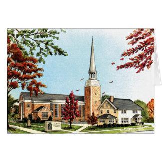 秋のAlbionの大学、Goodrichのチャペル カード