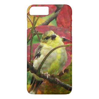 秋のiPhone 7のプラスの場合のGoldfinch iPhone 8 Plus/7 Plusケース