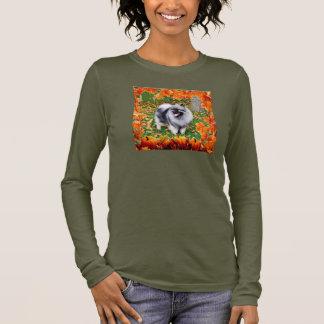 秋のKeeshond 3 長袖Tシャツ