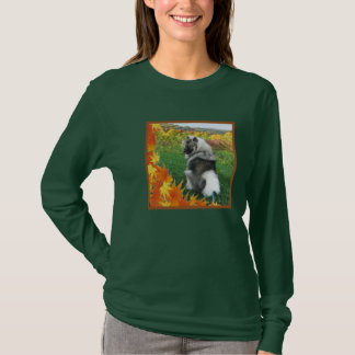秋のKeeshond 4 Tシャツ