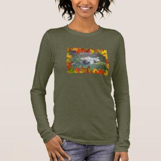 秋のKeeshond 6 長袖Tシャツ