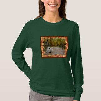 秋のKeeshond 7 Tシャツ