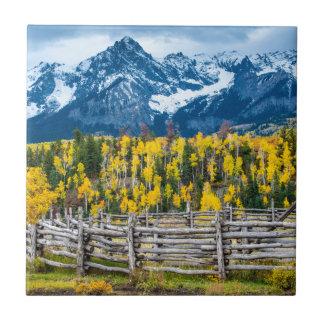 秋のSneffels山の畜舎-コロラド州 タイル