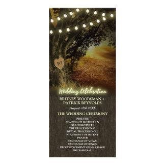秋はオークの木の結婚式プログラムをつけます ラックカード