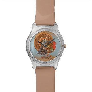 秋はトルコの葉の感謝祭を着色します 腕時計