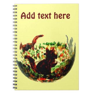秋は動物の芸術を蓄えます ノートブック