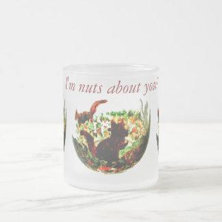 秋は動物の芸術を蓄えます フロストグラスマグカップ