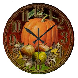 秋は柱時計実を結びます ラージ壁時計