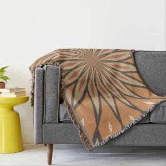 秋カボチャスパイスの花の星のデザイン スローブランケット